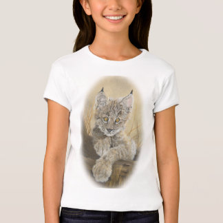 T-shirt do lince do bebê camiseta