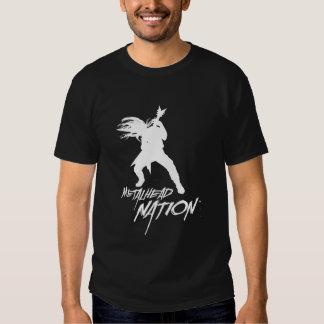 T-shirt do logotipo da nação de Metalhead