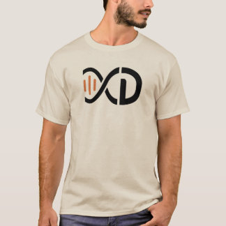 T-shirt do logotipo do ADN - areia Camiseta