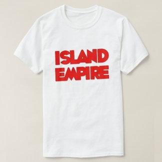T-shirt do logotipo do império da ilha camiseta