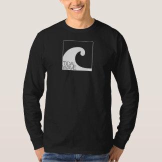 """T-shirt do """"logotipo"""" do maremoto da Longo-Luva - Camiseta"""