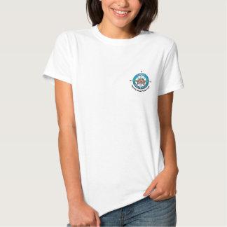 T-shirt do logotipo do rosa de compasso da viagem