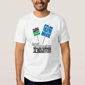 T-shirt do logotipo dos homens das conexões do
