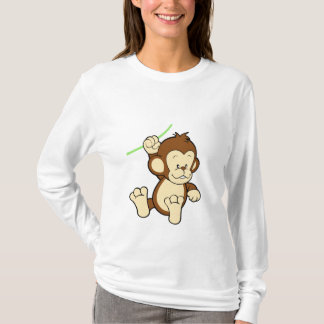T-shirt do macaco camiseta