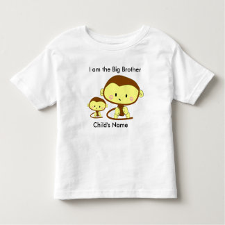 T-shirt do macaco do big brother camiseta infantil