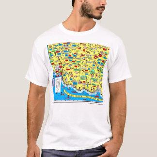 T-shirt do mapa 1966 de Cincinnati retro, Ohio Camiseta