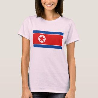 T-shirt do mapa da bandeira x da Coreia do Norte Camiseta
