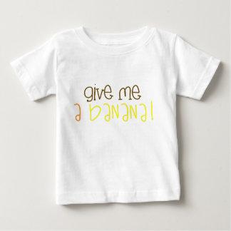 T-shirt do miúdo da banana camiseta para bebê
