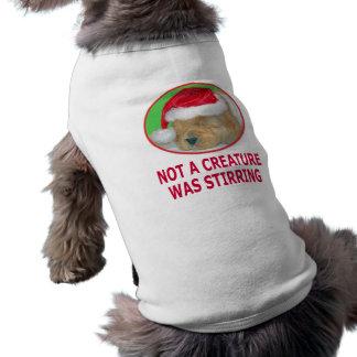 T-shirt do Natal do golden retriever, presentes, c Camisa Sem Mangas Para Cachorro