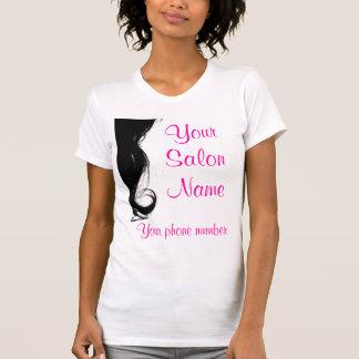 T-shirt do negócio do salão de beleza, modelo