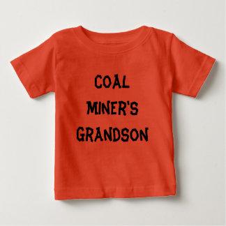 T-shirt do neto de mineiro de carvão camiseta para bebê