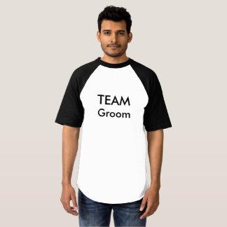 T-shirt do noivo da equipe camiseta