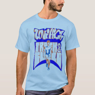 T-shirt do oficial do atletismo do menino uni alto camiseta