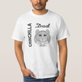 T-shirt do pai da chinchila camiseta
