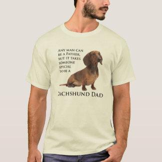 T-shirt do pai do Dachshund Camiseta