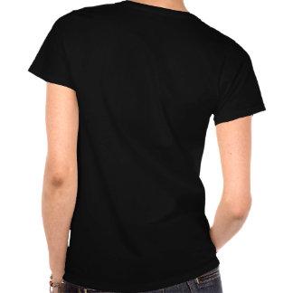 T-shirt do partido de galinha (preto e rosa)