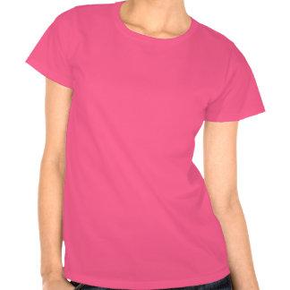 T-shirt do partido de galinha (rosa e preto)