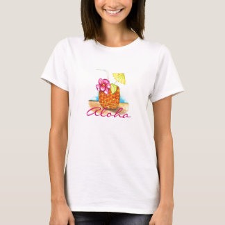 T-shirt do partido de Luau Camiseta