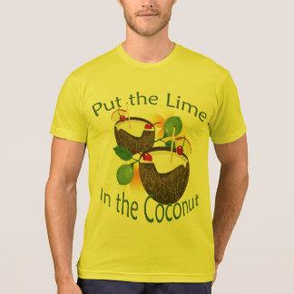T-shirt do partido do limão da bebida do coco de