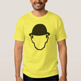 T-shirt do pictograma, capacete de segurança