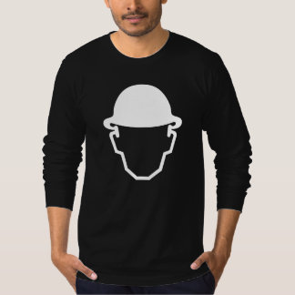 T-shirt do pictograma, capacete de segurança camiseta