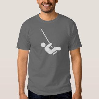 T-shirt do pictograma do balanço