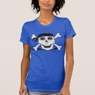 T-shirt do pirata do crânio