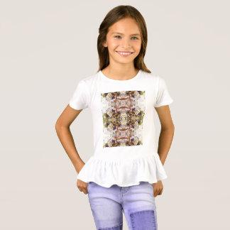 T-shirt do plissado das meninas camiseta