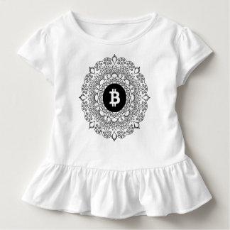 T-shirt do plissado de BITCOIN/HENNA-Girl Camiseta Infantil