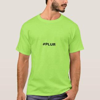 T-shirt do PLUR Hashtag dos homens Camiseta