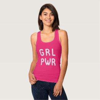 T-shirt do poder GRL PWR da menina - camisetas