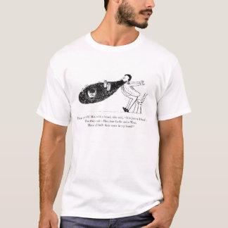 T-shirt do poema da barba de Edward Lear do Camiseta