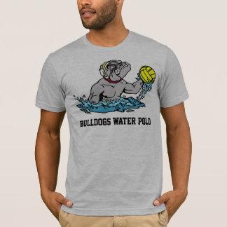 T-shirt do pólo aquático dos buldogues camiseta