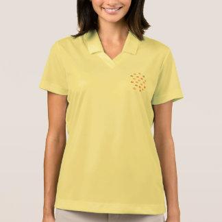 T-shirt do polo das mulheres da abóbora