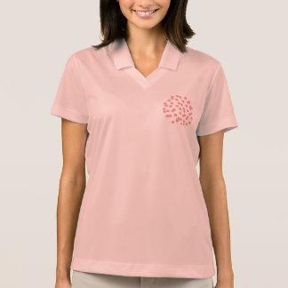 T-shirt do polo das mulheres vermelhas das