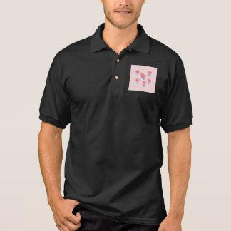 T-shirt do polo dos homens dos balões de ar