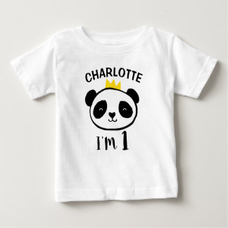T-shirt do primeiro aniversario da princesa do camiseta para bebê