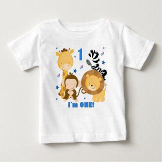 T-shirt do primeiro aniversario do safari de selva