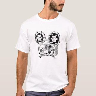 T-shirt do projetor de filme do vintage camiseta