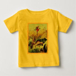 T-shirt do Puss e da criança das botas Camiseta Para Bebê