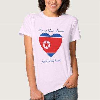 T-shirt do querido da bandeira da Coreia do Norte