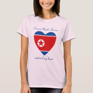 T-shirt do querido da bandeira da Coreia do Norte Camiseta