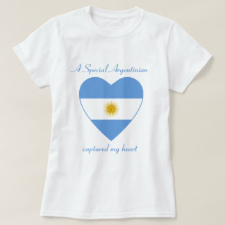 T-shirt do querido da bandeira de Argentina Camiseta