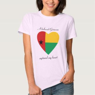 T-shirt do querido da bandeira de Guiné-Bissau