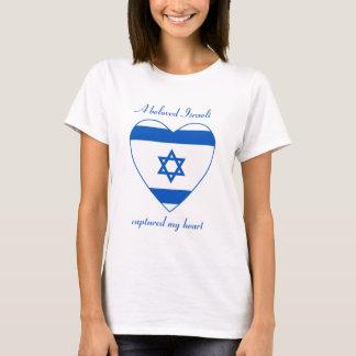 T-shirt do querido da bandeira de Israel Camiseta
