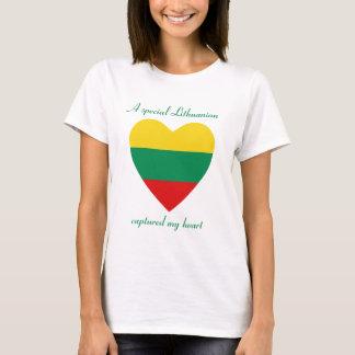 T-shirt do querido da bandeira de Lithuania Camiseta