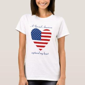 T-shirt do querido da bandeira dos EUA Camiseta