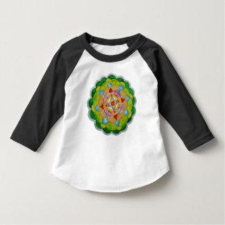 T-shirt do Raglan da luva da criança 3/4 da