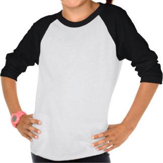 T-shirt do Raglan da luva da morango *3/4