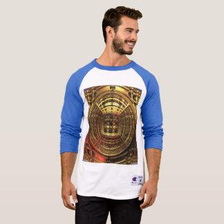 T-shirt do Raglan da luva do campeão 3/4 dos Camiseta